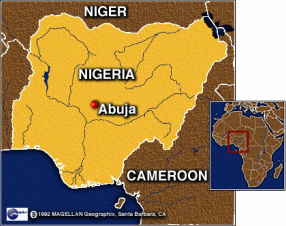 Location - Where is nigeria located